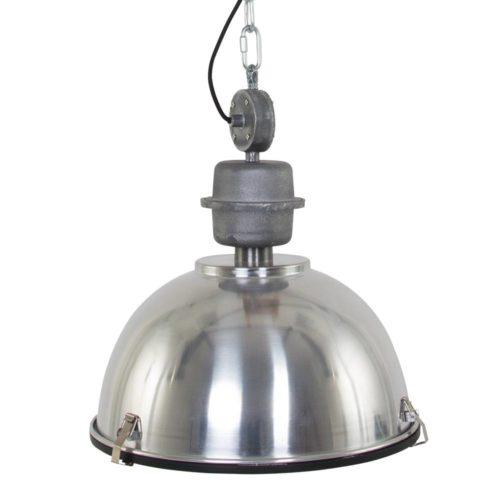 Industriele hanglamp 1-lichts Industrial STEINHAUER - 7586ST - Industrie lamp - Industrie Hanglamp - Steinhauer - Bikkel - Industrieel - Trendy - Staal - Metaal Glas