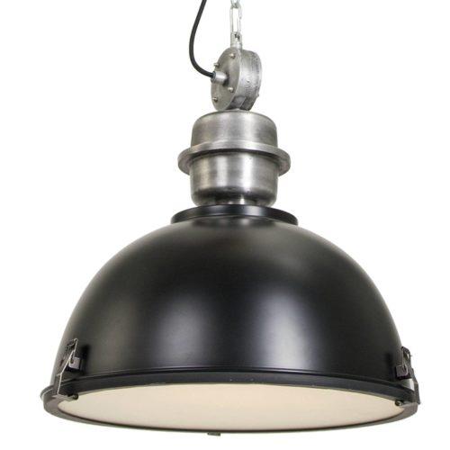 Industriele hanglamp 1-lichts Industrial STEINHAUER - 7586ZW - Industrielamp - Industrie Hanglamp - Steinhauer - Bikkel - Industrieel - Trendy - Zwart - Metaal Glas