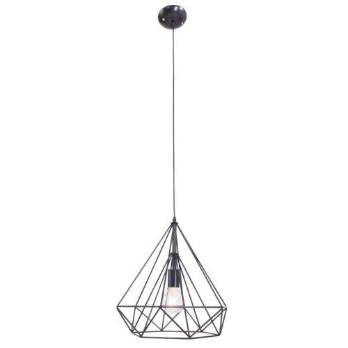 Hanglamp 1-lichts 380mm MEXLITE - 7597ZW - Hanglamp- Mexlite- Ontario- Trendy- Zwart  Zwart- Metaal