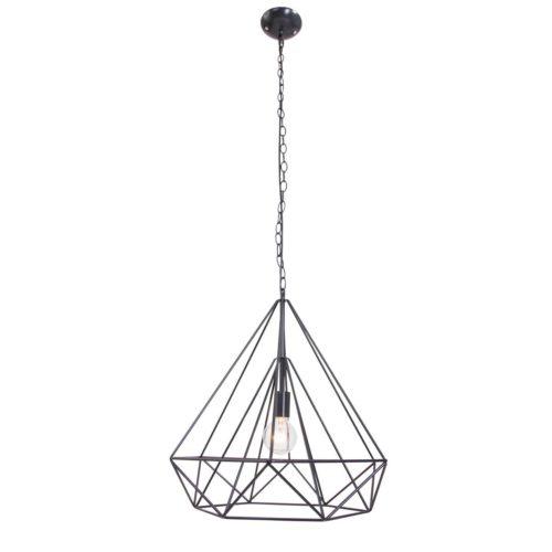 Hanglamp 1-lichts 500mm MEXLITE - 7598ZW - Hanglamp- Mexlite- Ontario- Trendy- Zwart  Zwart- Metaal