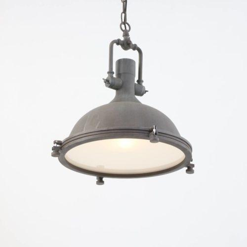 Industriele hanglamp 1-lichts Metaal MEXLITE - 7636B - Industrie lamp - Industrie Hanglamp - Mexlite - Alta - Industrieel - Landelijk - Bruin