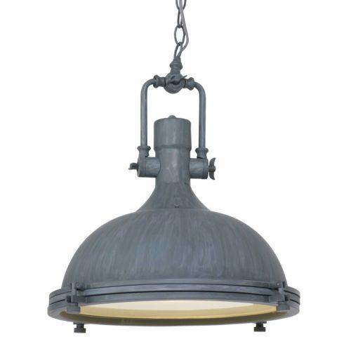 Industriele hanglamp 1-lichts Metaal MEXLITE STEINHAUER - 7636GR - Industrielamp - Industrie Hanglamp - Mexlite - Alta - Trendy - Grijs