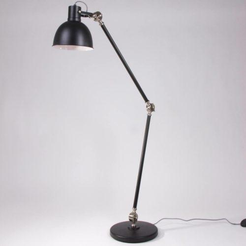 Grote industriële vloerlamp zwart 1-lichts
