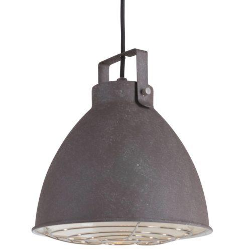 Industriele hanglamp 1-lichts Metaal MEXLITE - 7650B - Industrie lamp - Industriële hanglamp - Mexlite - Austin - Landelijk - Industrieel - Bruin Verweerd bruin- Metaal
