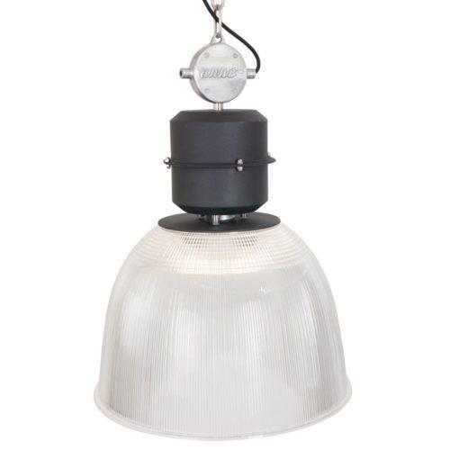 Industriele hanglamp 1-lichts Transparant  ANNE LIGHTING - 7695ZW - Industrie lamp - Industriële hanglamp - Anne Lighting - Clearvoyant - Industrieel - Modern - Transparant Transparante kap - Metaal Kunststof