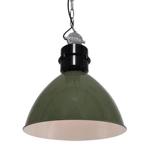 Industriele hanglamp 1-lichts Metaal  ANNE LIGHTING - 7696G - Industriele hanglamp - Industrielamp - Anne Lighting - Frisk - Industrieel - Trendy - Groen Olijfgroen - Metaal