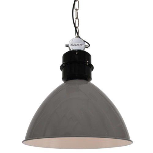 Industriele hanglamp 1-lichts Metaal  ANNE LIGHTING - 7696GR - Industrie lamp - Industriële hanglamp - Anne Lighting - Frisk - Industrieel - Trendy - Grijs Grijs- Metaal