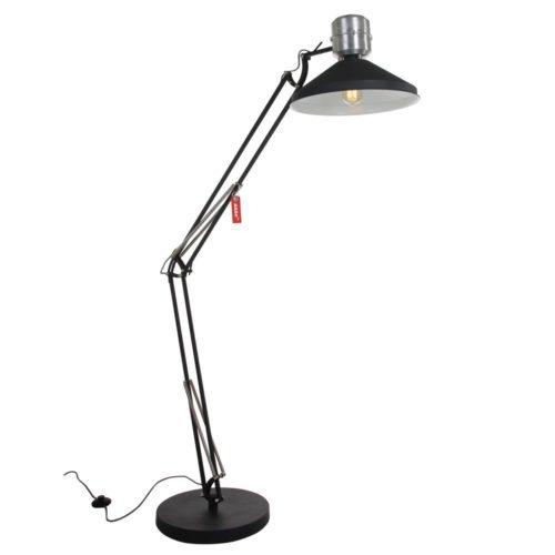 Industriële vloerlamp 1-lichts Knik ANNE LIGHTING - 7701ZW - Vloerlamp - Industriele vloerlamp - Industrie lamp - Anne Lighting - Zappa - Industrieel - Trendy - Zwart - Mat zwart - Metaal