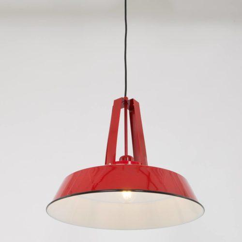 Industriele hanglamp 1-lichts metaal 43cm MEXLITE - 7704RO - Industriele hanglamp - Industrielamp - Mexlite - Luna - Industrieel - Trendy Rood Rood - Metaal