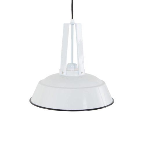 Industriele hanglamp 1-lichts metaal 43cm MEXLITE - 7704W - Industriele hanglamp - Industrielamp - Mexlite - Luna - Industrieel - Trendy Wit Wit- Metaal