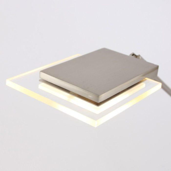 1-lichts LED glasplaat -7085st- STEINHAUER - 7761ST - Tafellamp- Steinhauer- MarjoletII2- Design - Modern- Staal  Staal met transparant glas- Metaal Glas