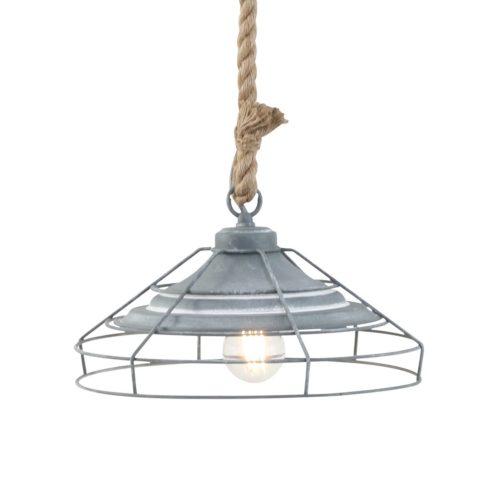Industriële hanglamp ijzer geraamte MEXLITE - 7776GR - Industrie lamp - Industriele hanglamp - Mexlite - Lissa - Landelijk - Trendy - Grijs Betongrijs - Metaal