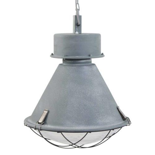 Industriële hanglamp ijzer 1-lichts MEXLITE - 7778GR - Industriele hanglamp - Industrielamp - Mexlite - Chester - Industrieel - Trendy - Grijs Verweerd grijs - Metaal Glas
