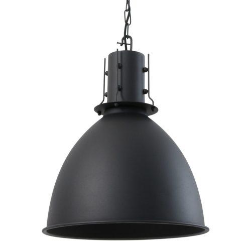 Industriele hanglamp ind zwart MEXLITE - 7780ZW - Industriële hanglamp - Industrielamp - Mexlite - Lenvik - Scandinavisch - Trendy - Zwart Mat zwart - Metaal