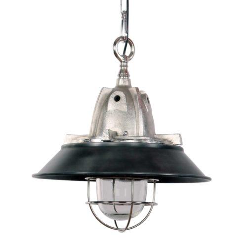Industriele hanglamp 1-lichts Industrie - 7785ST - Industriële hanglamp - Industrielamp - Steinhauer - Tuk - Industrieel - Trendy - Staal Zwart - Metaal Glas