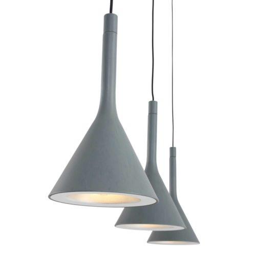 Hanglamp 3-lichts trechter STEINHAUER - 7807GR - Hanglamp- Steinhauer- Cornucopia- Modern - Design- Grijs  Grijs- Metaal