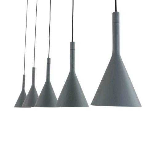 Hanglamp 5-l trechter STEINHAUER - 7808GR - Hanglamp- Steinhauer- Cornucopia- Modern - Design- Grijs  Grijs- Metaal