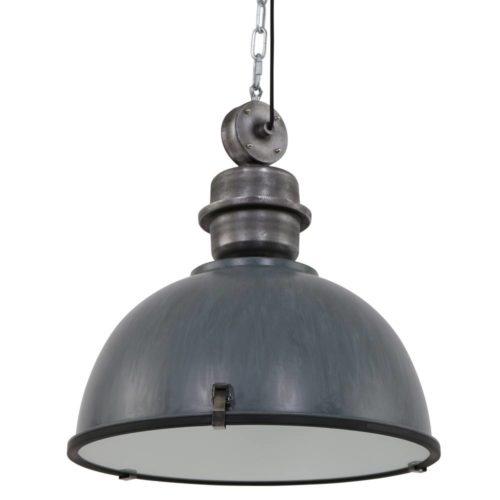 Industriele hanglamp 1-lichts 52cm STEINHAUER - 7834GR - Industriële hanglamp - Industrielamp - Steinhauer - Bikkel XXL - Trendy - Industrieel - Grijs - Metaal Glas