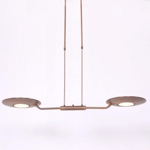 Hanglamp 2-lichts LED STEINHAUER - 7861BR - Hanglamp- Steinhauer- Zenith LED- Modern Klassiek- Brons  Brons- Metaal
