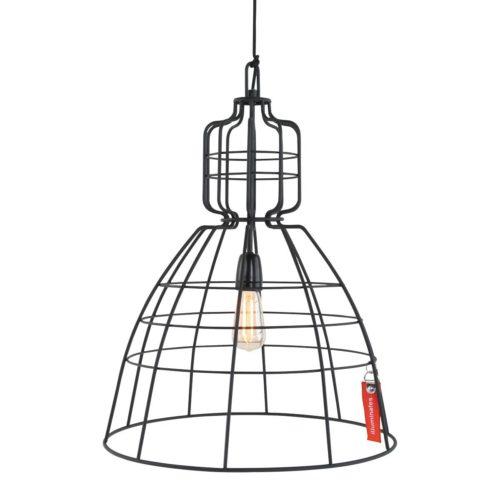 Hanglamp 1-lichts Industrie 48x68cm  ANNE LIGHTING - 7872ZW - Hanglamp- Anne Lighting- MarkIII- Industrieel - Design- Zwart  Zwart- Metaal
