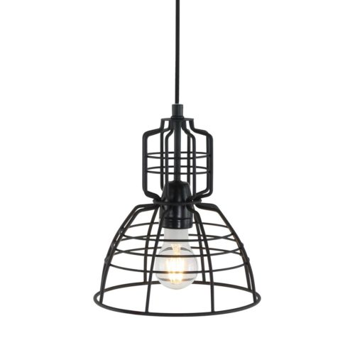 Hanglamp 1-lichts Industrie 20x24 cm ANNE LIGHTING - 7873ZW - Hanglamp- Anne Lighting- Mini MarkIII- Industrieel - Design- Zwart  Zwart- Metaal