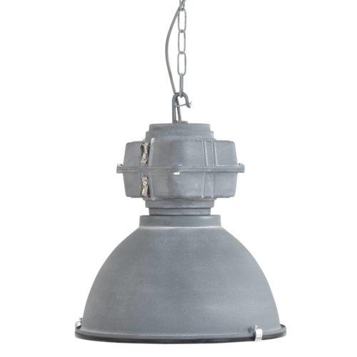 Industriële hanglamp industrie glas 40cm MEXLITE - 7881GR - Industrie lamp - Industriele hanglamp - Mexlite - Fender - Industrieel - Trendy - Grijs Lichtgrij s- Metaal Glas