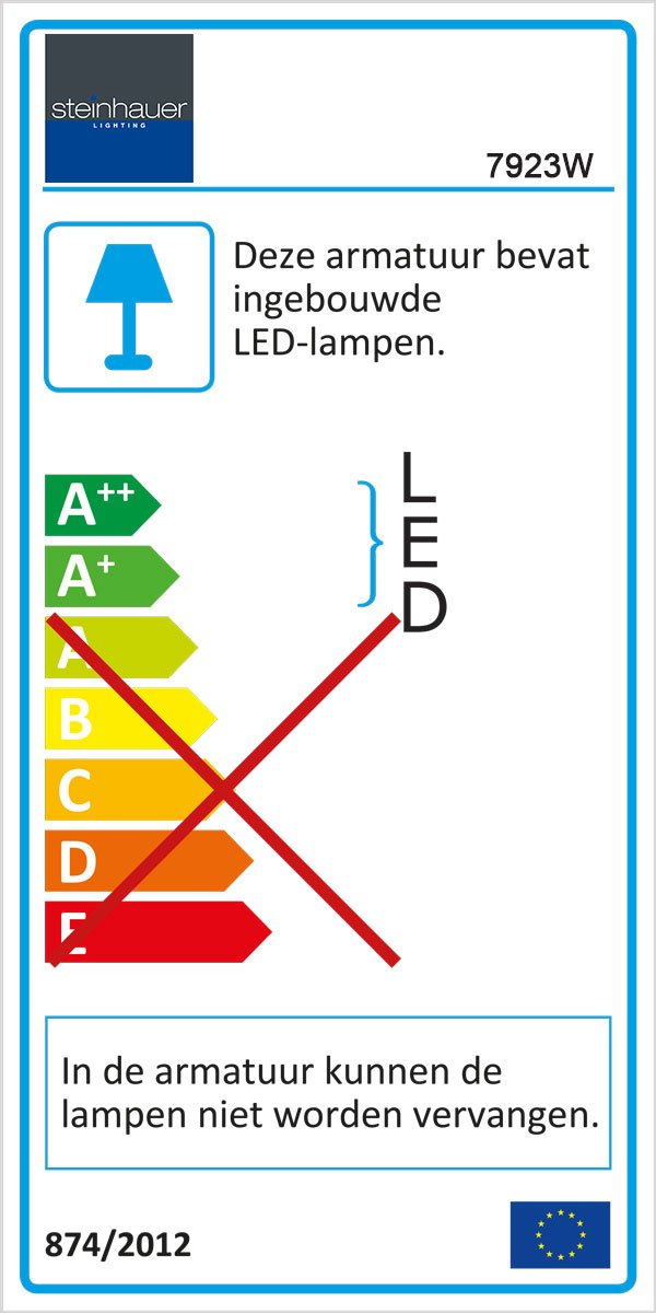 LED dimbaar MEXLITE - 7923W - Steinhauer - Ceiling and wall LED  Modern - Wit - Wit- Kunststof