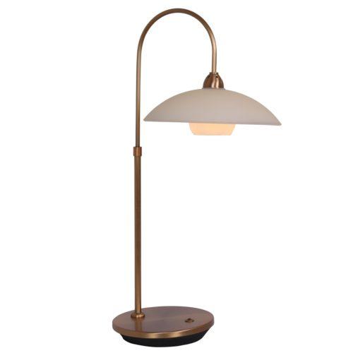Tafellamp 1-lichts LED -2949br- STEINHAUER - 7928BR - Tafellamp- Steinhauer- Aleppo- Klassiek- Brons Creme - Metaal Glas