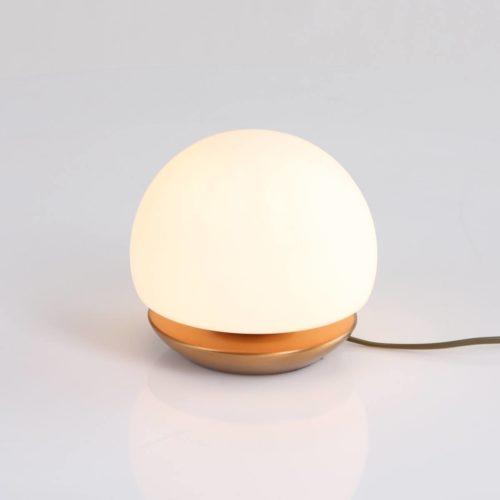 Tafellamp 1-lichts Glas LED -6875br- STEINHAUER - 7932BR - Tafellamp- Steinhauer- Ancilla- Klassiek- Brons Wit - Metaal Glas