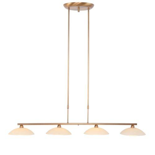 Hanglamp 4-lichts LED -3281/7930+dim- STEINHAUER - 7964BR - Hanglamp- Steinhauer- Monarch- Klassiek- Brons  Brons geborsteld- Metaal