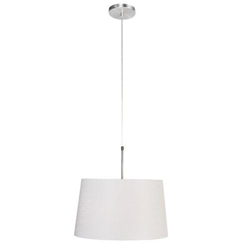 Hanglamp Gramineus 9567 staal- kap linnen wit STEINHAUER - 9567ST - Hanglamp- Steinhauer- Gramineus- Modern- Staal Wit - Metaal Stof