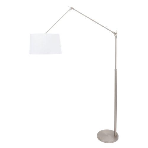 Vloerlamp Gramineus 9718 staal- kap effen wit STEINHAUER - 9718ST - Vloerlamp- Steinhauer- Gramineus- Modern- Staal Wit - Metaal Stof