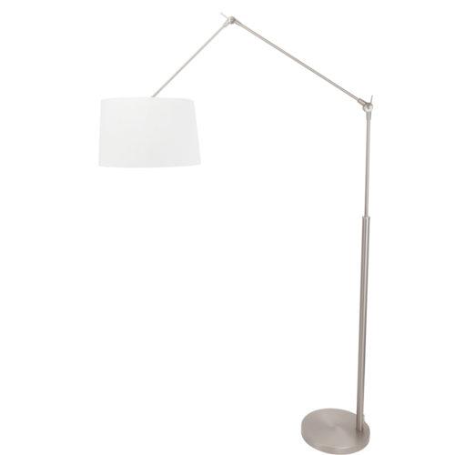 Vloerlamp Gramineus 9719 staal- kap linnen wit STEINHAUER - 9719ST - Vloerlamp- Steinhauer- Gramineus- Modern- Staal Wit - Metaal Stof