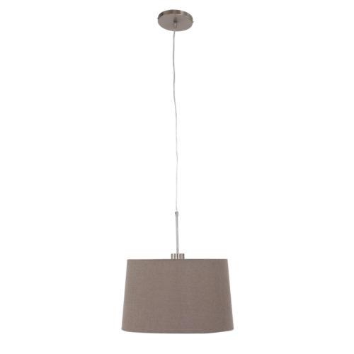 Hanglamp Gramineus 9835ST Staal STEINHAUER - 9835ST - Hanglamp- Steinhauer- Gramineus- Modern - Landelijk- Staal Bruin - Metaal Stof