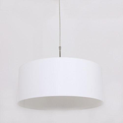 Hanglamp Stresa 9886ST Staal- Witte Kap STEINHAUER - 9886ST - Hanglamp- Steinhauer- Stresa- Modern- Staal Kap=wit Chintz Staal met een wit Chintze kap- Metaal Stof