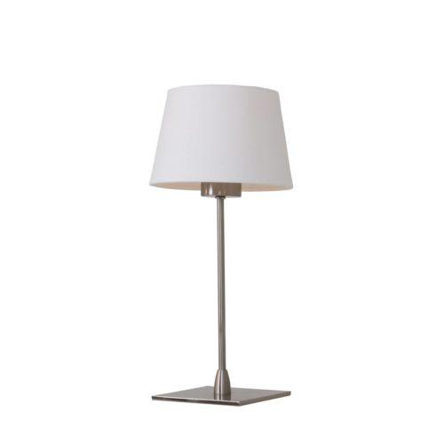 Tafellamp Gramineus 9926ST Staal STEINHAUER - 9926ST - Tafellamp- Steinhauer- Gramineus- Modern- Staal Kap=wit staal met witte kap- Metaal Stof
