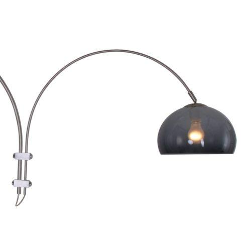 Wandlamp Gramineus 9930ST STEINHAUER - 9930ST - Wandlamp- Steinhauer- Stresa- Modern- Staal Kap=grijs staal met transparante plexi bol- Metaal Kunststof