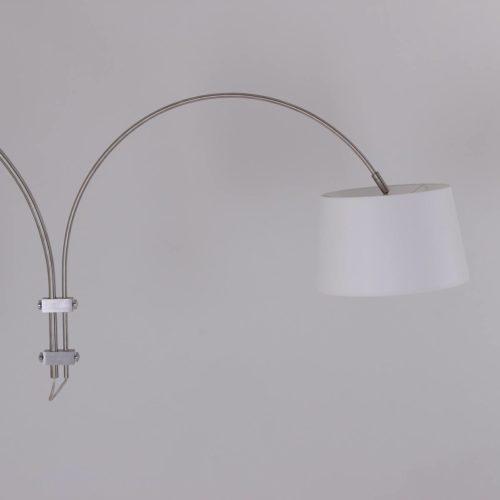 Wandlamp Gramineus 9934ST Staal STEINHAUER - 9934ST - Wandlamp- Steinhauer- Gramineus- Modern- Staal Kap=wit staal met witte kap- Metaal Stof