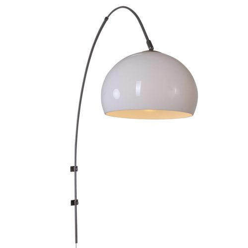 Wandlamp Gramineus 9937ST Staal STEINHAUER - 9937ST - Wandlamp- Steinhauer- Gramineus- Modern- Staal Kap=wit staal met witte plexi bol- Metaal Kunststof