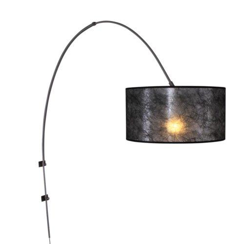 Wandlamp Gramineus 9940ST Staal STEINHAUER - 9940ST - Wandlamp- Steinhauer- Gramineus- Modern- Staal Kap=zwart Sizo staal met zwarte sizo kap- Metaal Stof
