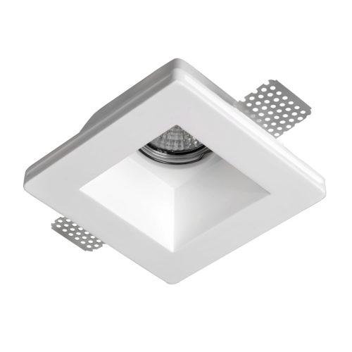 Inbouwspot DL gips rond 120x120x57mm exclusief lichtbron GU10