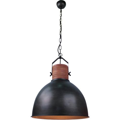 Industriële hanglamp 'Veleno' Zwart/Hout FREELIGHT - H 5510 Z