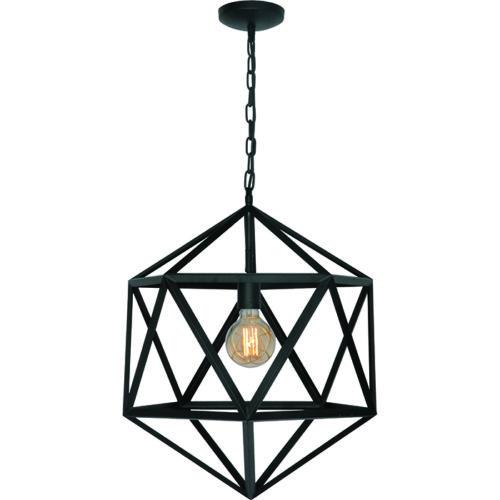 Hanglamp 'Cubo' 55cm Mat Zwart FREELIGHT - H 5672 Z