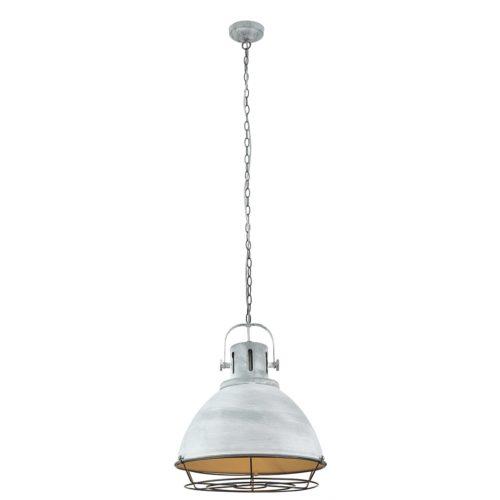 Industriële hanglamp Coppa II E27 Beton