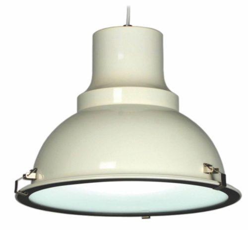 "Industriële hanglamp off white 1-lichts ""Vega"" Ø45cm Retro - Industrieel E27"