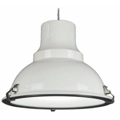 "Industriële hanglamp wit glanzend 1-lichts ""Vega"" Ø45cm Retro - Industrieel E27"