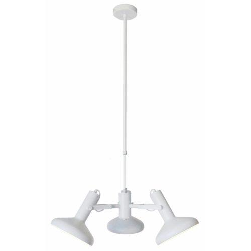 Hanglamp wit 3-lichts 24cm hoog x 60cm breed