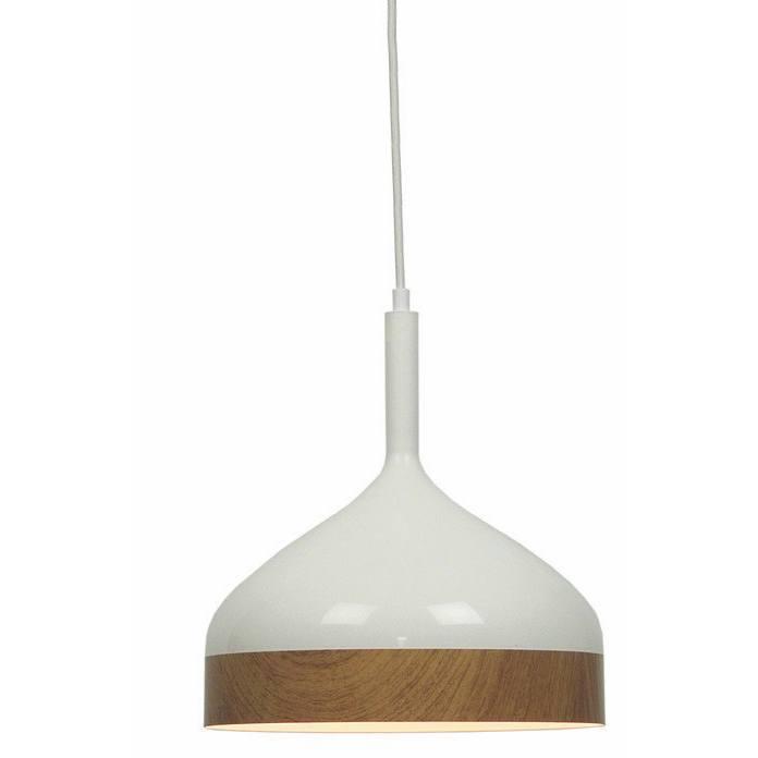 "Hanglamp wit/hout 1-lichts ""Moondrop"" Ø30cm 31cm hoog E27"