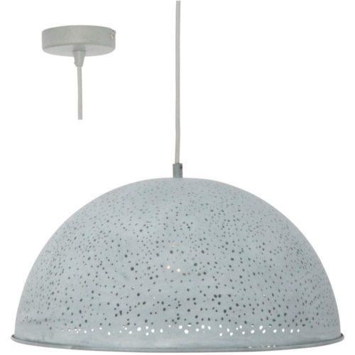 Hanglamp Misty Grijs Betonlook sterrenhemel 40 cm FREELIGHT H3510G