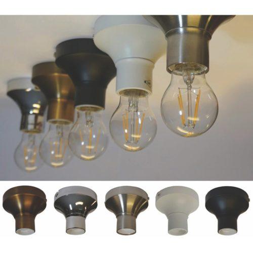 Plafondlamp armatuur voor 1 peer